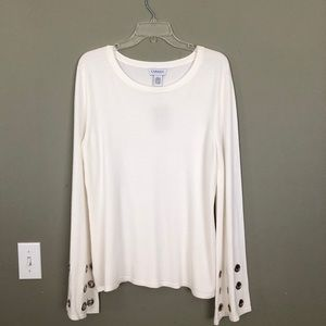 Carmen Knit Top with Embellished Bell Sleeves